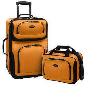 Amazon.com | US Traveler Rio Two Piece Expandable Carry-On Luggage ...