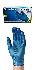 Vinyl, Gloves, Box, Blue