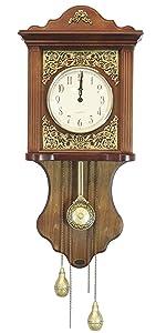 Amazoncom Elegant Wood Wall Clock With Acorn Pendulum Home