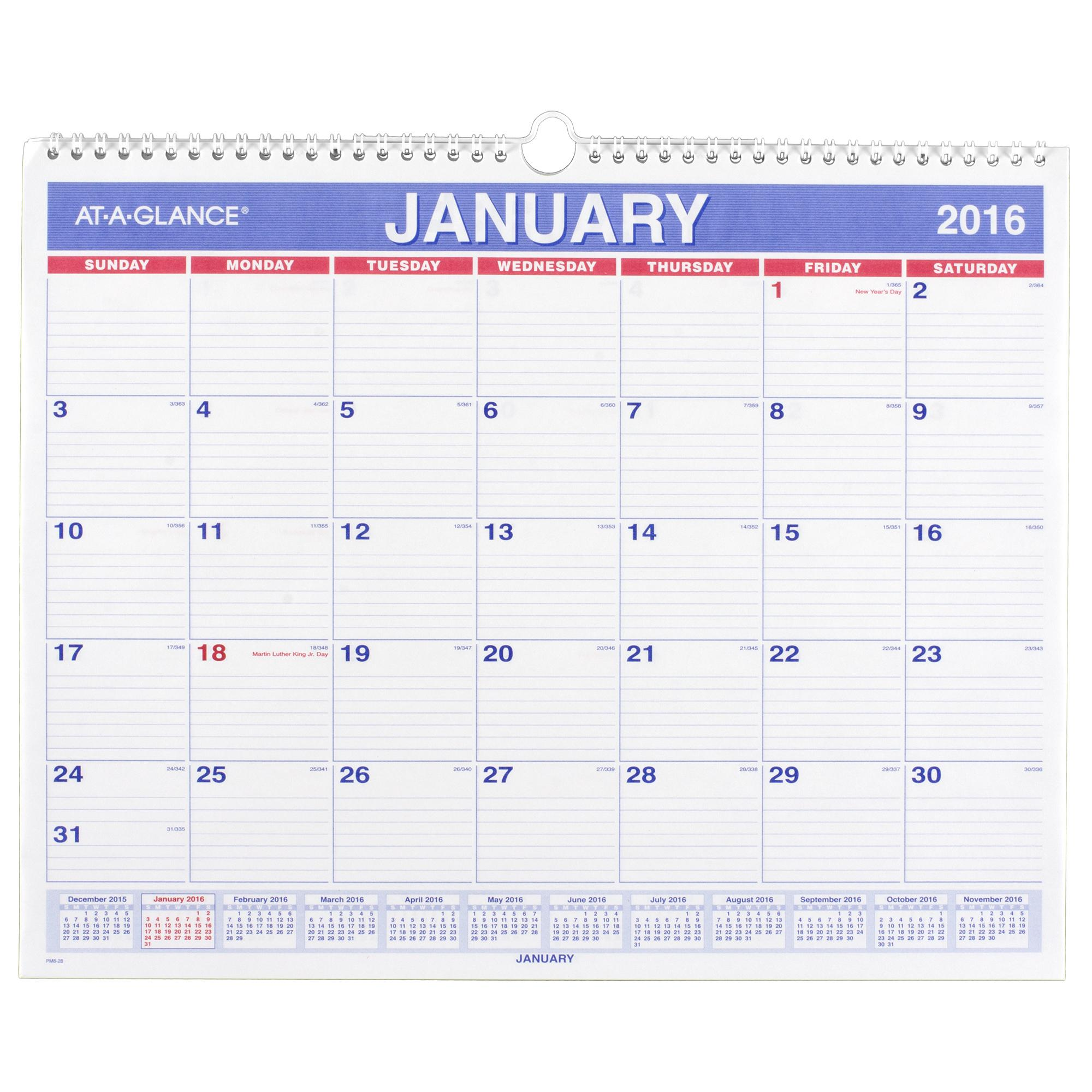 Calendar Months : Amazon at a glance monthly wall calendar