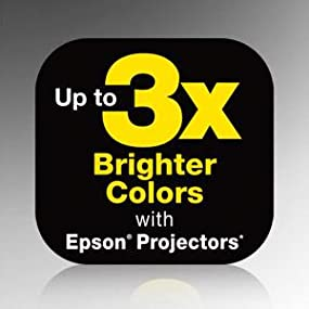 Up to 3x brighter colors