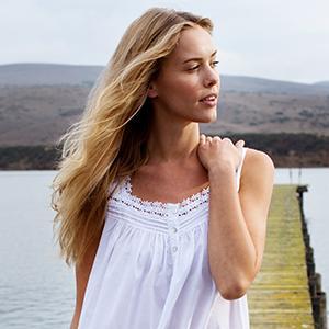Eileen West, Cotton, Sleeveless nightgown