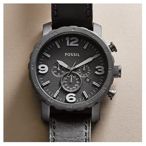 amazon com fossil men s jr1354 nate stainless steel chronograph about fossil