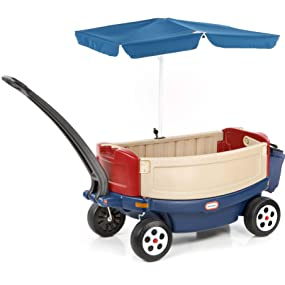 Amazon Com Little Tikes Deluxe Ride And Relax Wagon With