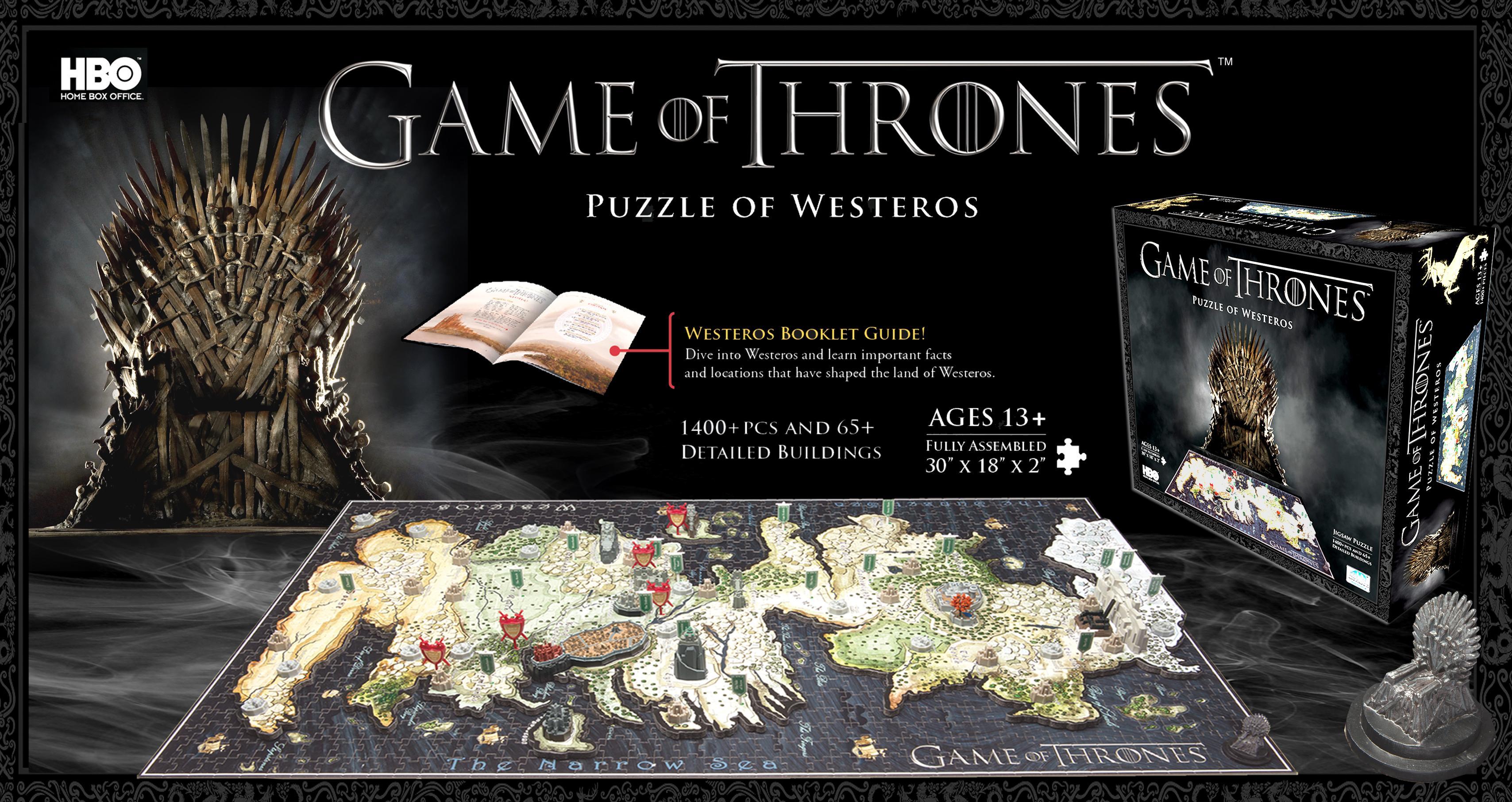 Amazon.com: 4D Cityscape Game of Thrones: Westeros Puzzle