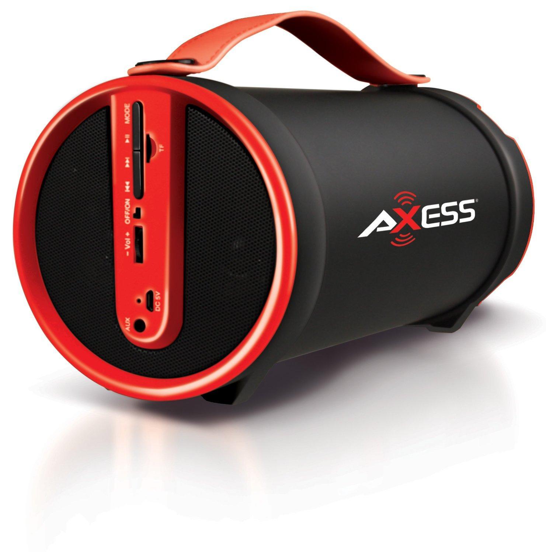 Amazon.com: AXESS SPBT1033 Portable Bluetooth Indoor/Outdoor 2.1 Hi-Fi Cylinder Loud Speaker