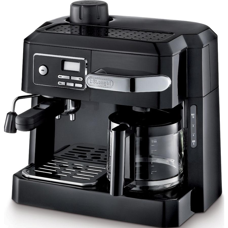delonghi bco320t combination espresso and drip coffee black combination coffee. Black Bedroom Furniture Sets. Home Design Ideas