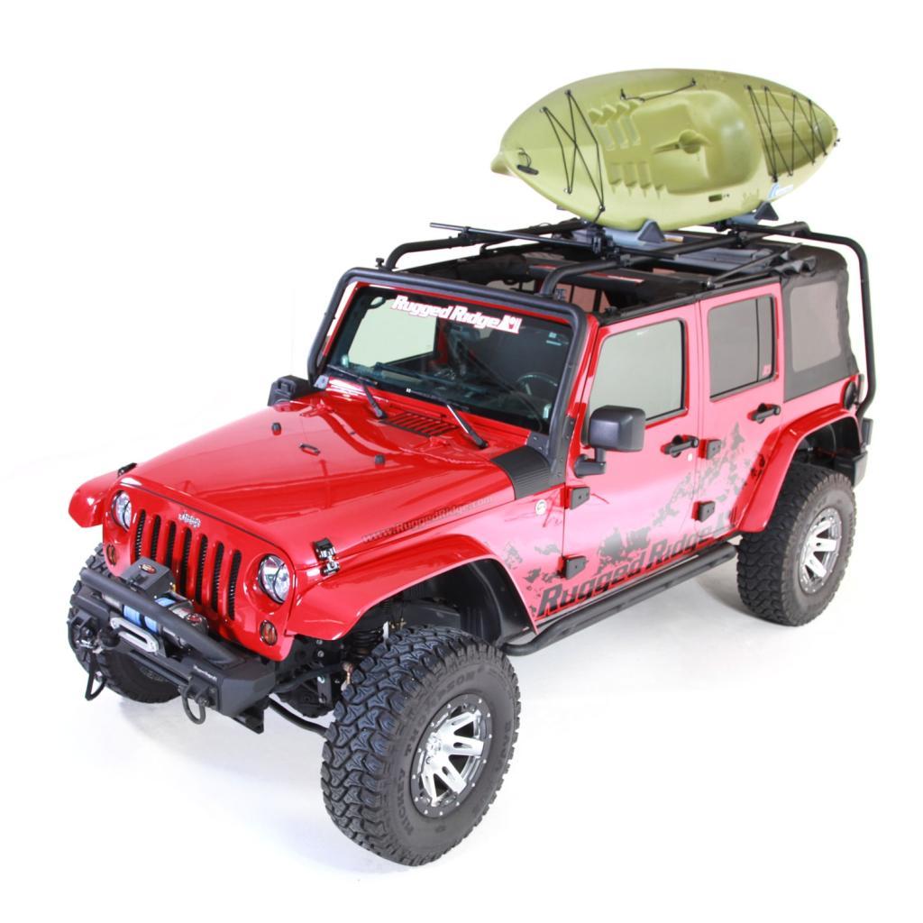 Amazon Com Rugged Ridge 11703 01 Sherpa Roof Rack For