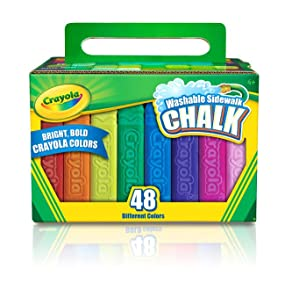 amazon com crayola 48 count sidewalk chalk 51 2048