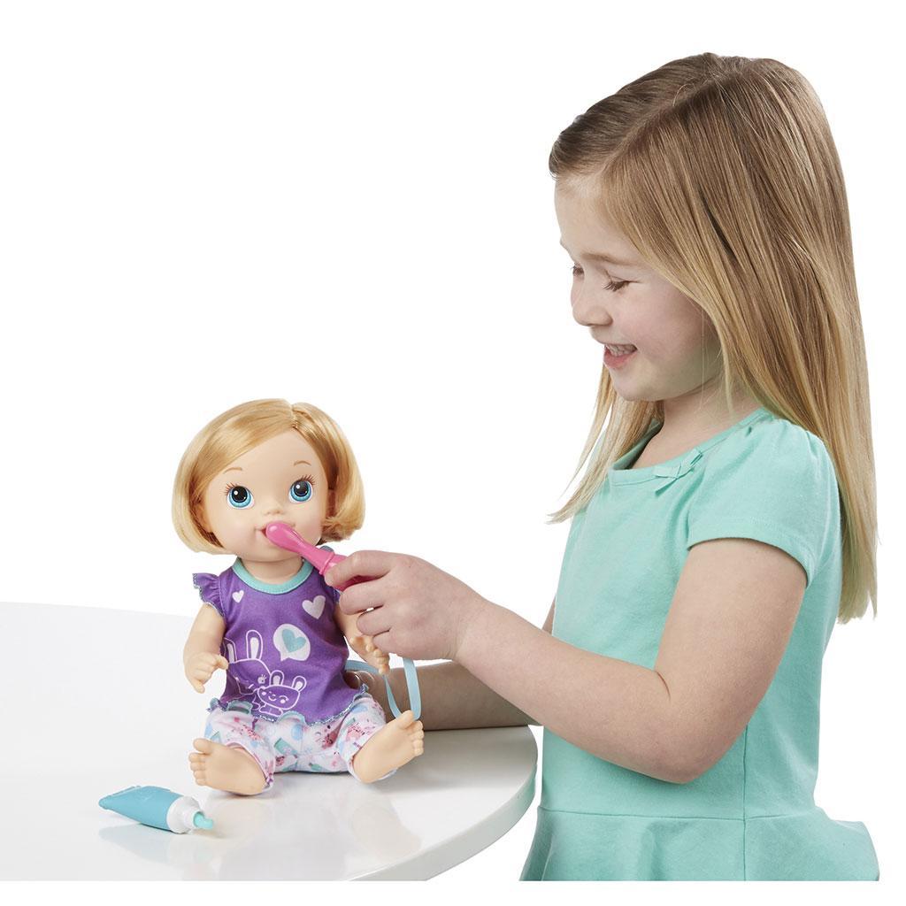 Amazon Com Baby Alive Brushy Brushy Baby Doll Blonde