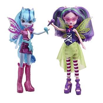 My Little Pony Equestria Girls Rainbow Rocks Sonata Dusk and Aria Blaze of  The Dazzlings Doll 2-Pack