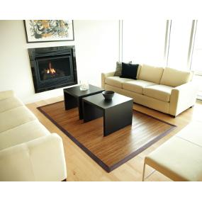 Exceptional Contemporary Bamboo Area Rug In Chocolate