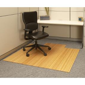 Anji Mountain Bamboo Roll Up Chairmat With Lip, Natural