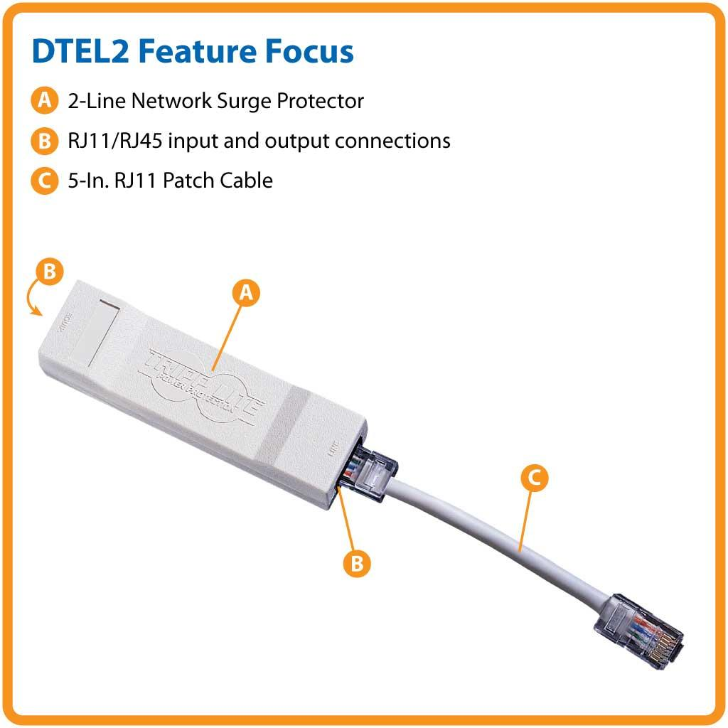 Tripp Lite 2 Network And Phone In Line Surge Protector Rj11 To Rj45 Ethernet Wiring Diagram From The Manufacturer
