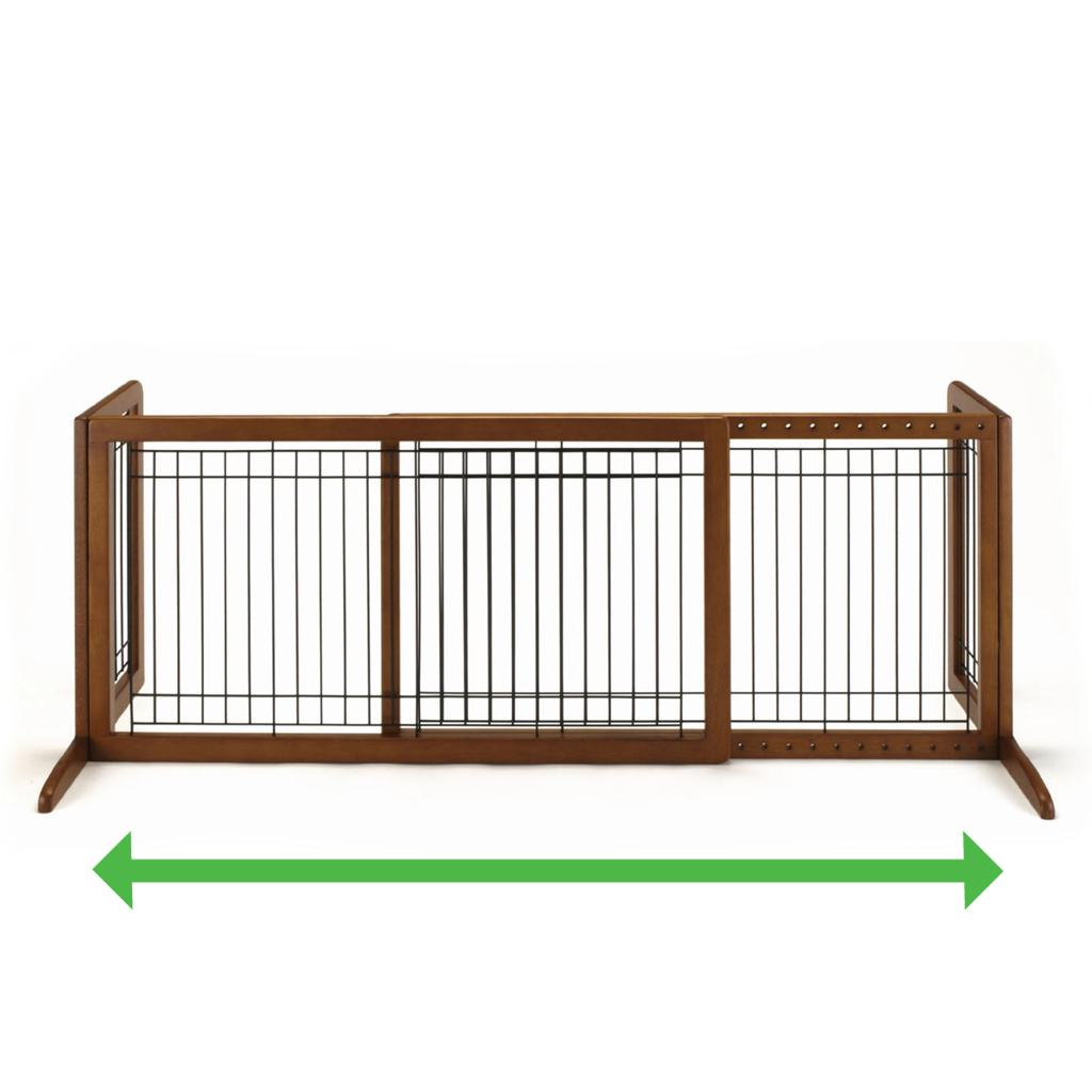 Amazon Com Richell Wood Freestanding Pet Gate Large