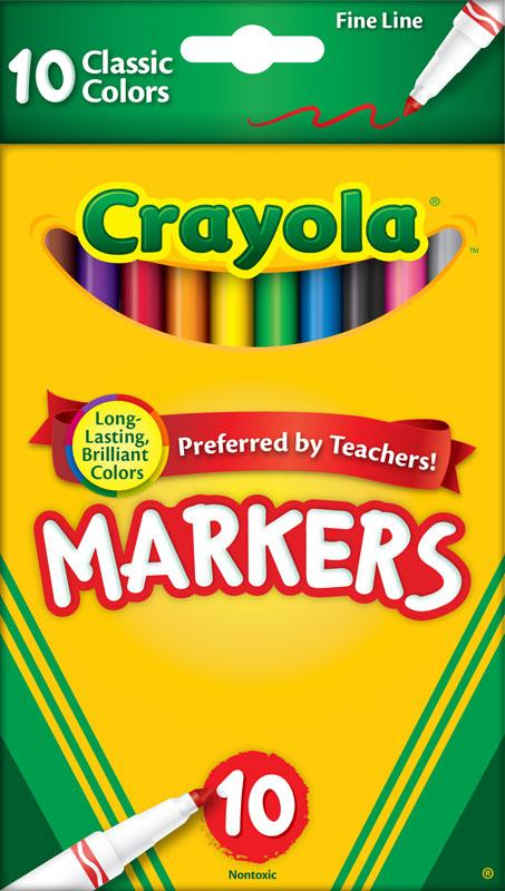 amazon com crayola original marker set fine tip assorted classic