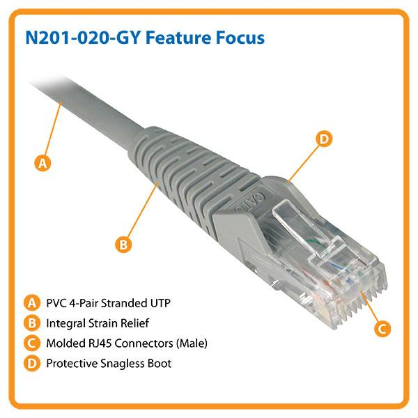 C2G 7ft Cat6 Snagless Unshielded (UTP) Network Patch Ethernet ...