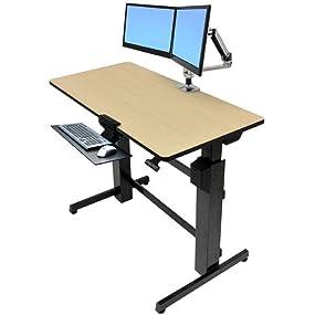 Amazoncom Ergotron WorkfitD SitStand Desk 24271928