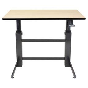 workfitd sitstand desk birch worksurface