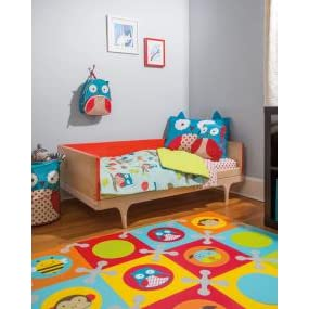 Amazon Com Skip Hop 4 Piece Toddler Bedding Set Owl