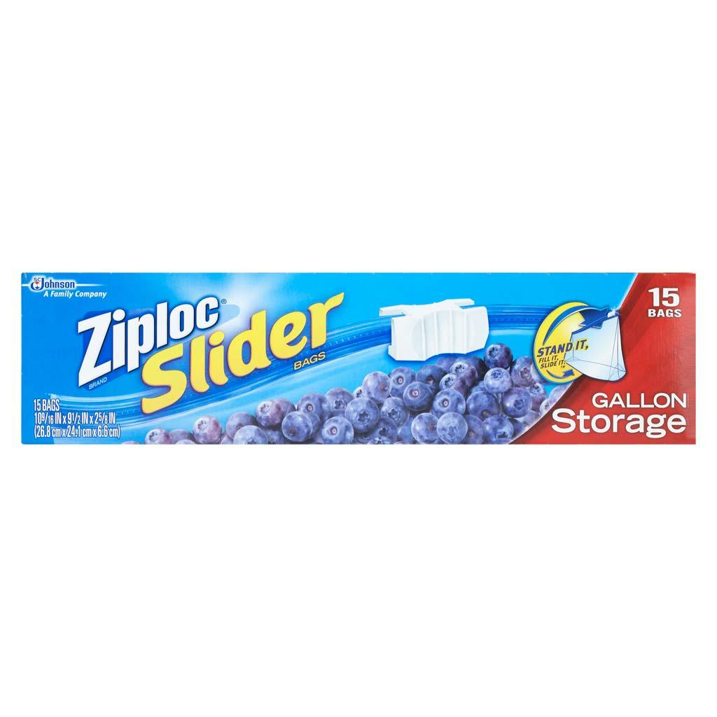 ziploc slider storage bags gallon 15 ct pack of 3 health personal care. Black Bedroom Furniture Sets. Home Design Ideas