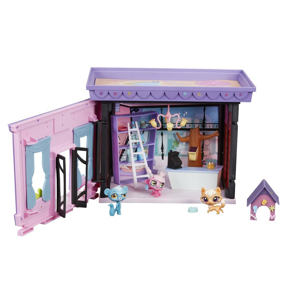 amazon com littlest pet shop pet acular fun room style set toys
