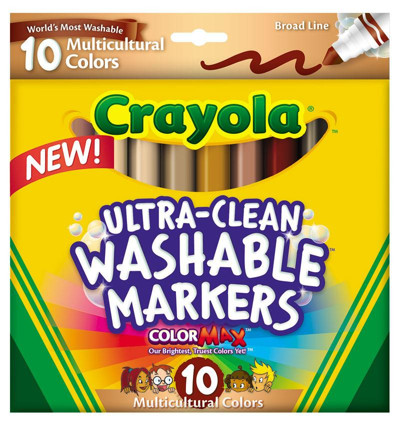 amazon com crayola ultraclean bl multicultural markers 10 count