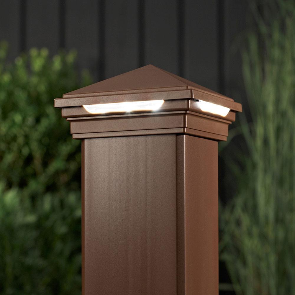 Outdoor Post Cap Lights: Amazon.com: LED Post Cap Light- Square Style, Classic