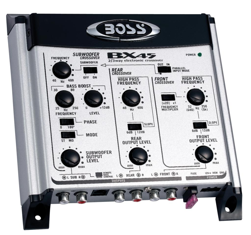 Boss Audio Bx45 2 3 Way Pre Amp Car Electronic Crossover Switchable Wiring Harness Diagram From The Manufacturer