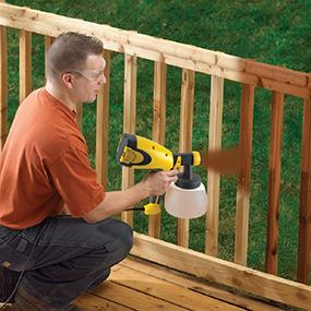 Using A Paint Sprayer For Stain Home Painting