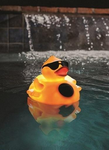 Game solar light up derby duck pool chlorinator 3 tablet chlorine dispenser led for Keep ducks out of swimming pool