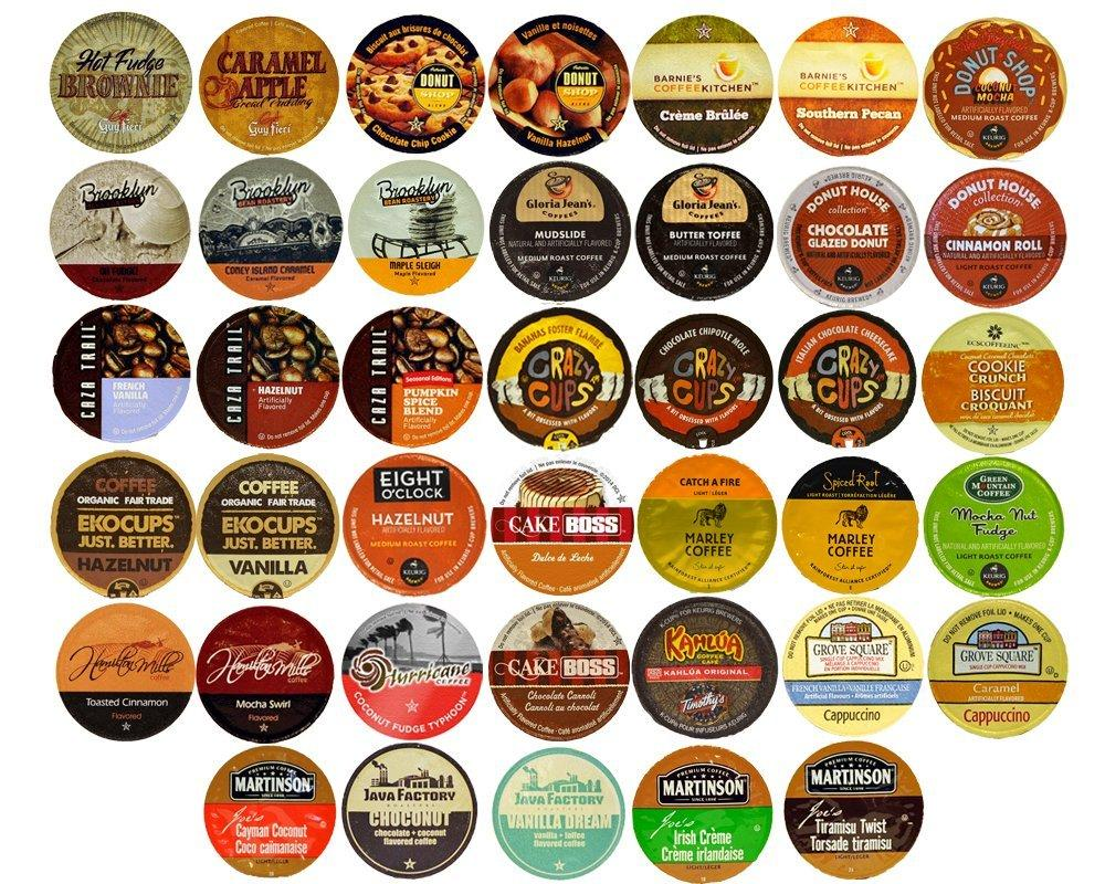 Flavored Coffee Variety Sampler Pack for Keurig K-Cup Brewers, 40 ...