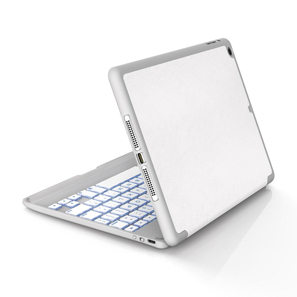 new styles b821e 96142 ZAGG Folio Case with Backlit Bluetooth Keyboard for iPad Air - White