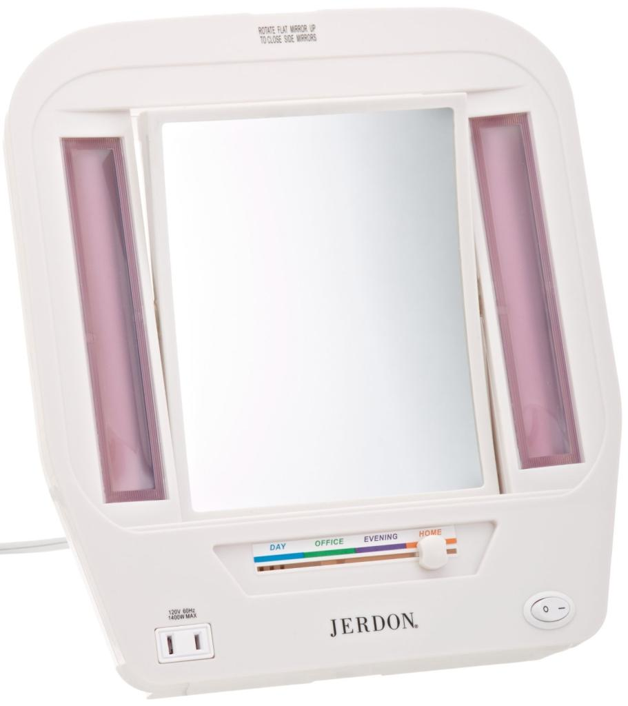 Amazon Com Jerdon Jgl7w Euro Lighted Mirror With 5x