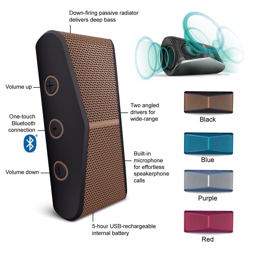 Logitech X300 Mobile Wireless Stereo Speaker Copper Black Glodok Multimedia Z213 Original See Features