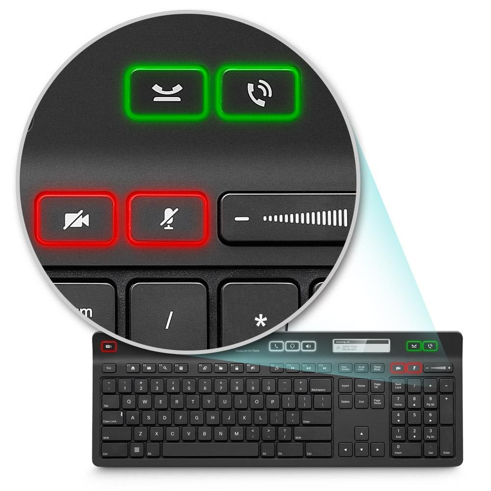 Logitech UC K725-C Certified Keyboard for Cisco Jabber Voice and Video Calls