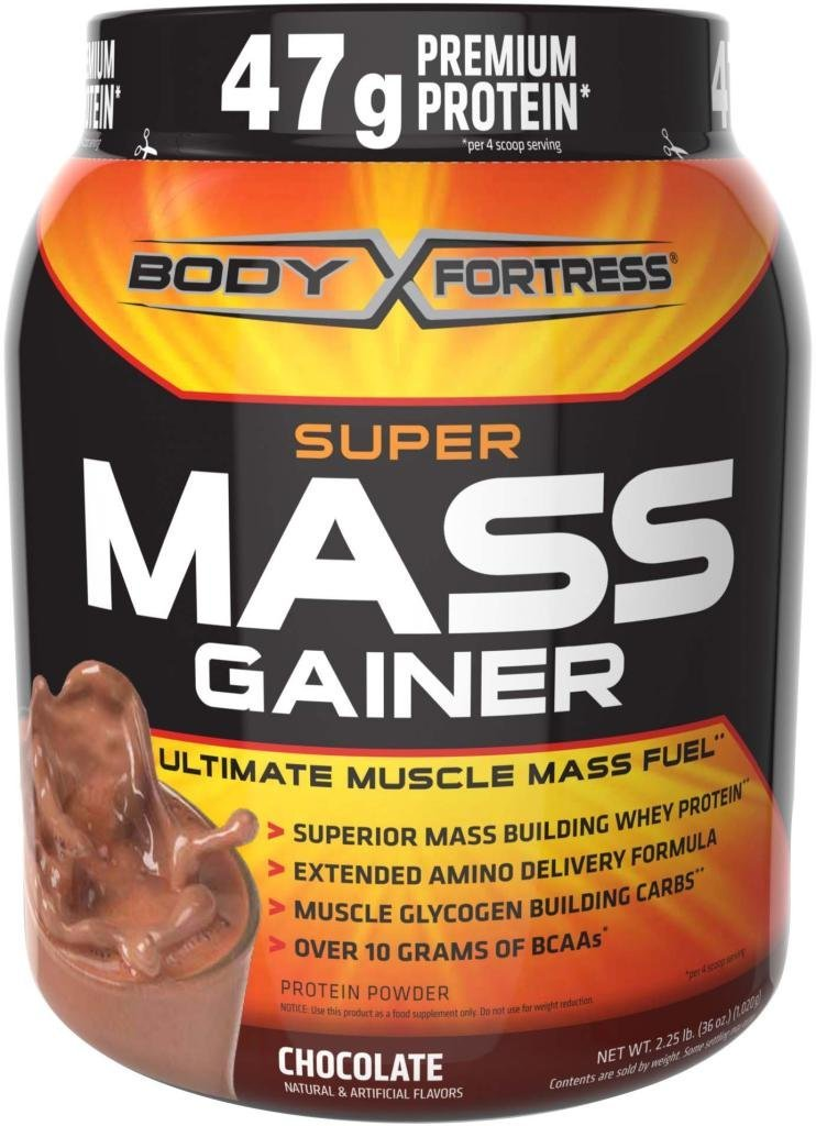 Amazon.com: Body Fortress Super Mass Gainer, Chocolate, 2.25 Pounds: Health & Personal Care