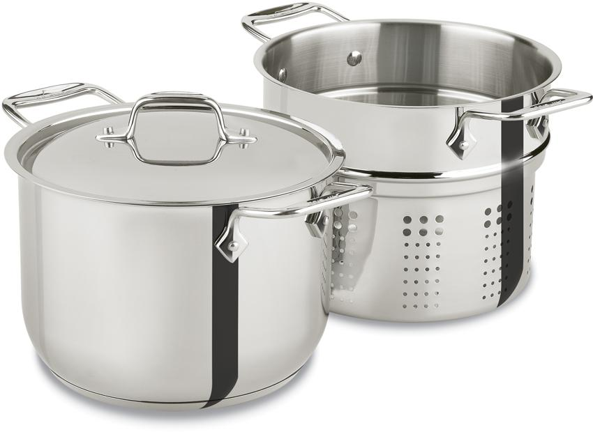 Amazon All Clad E414S6 Stainless Steel Pasta Pot And Insert