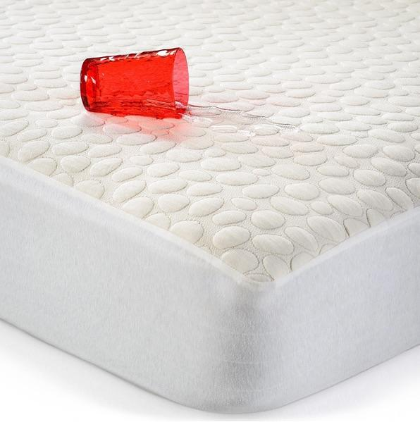 Dusk 2 Dawn Pebbletex Organic Cotton Quilted Waterproof Mattress Protector Twin