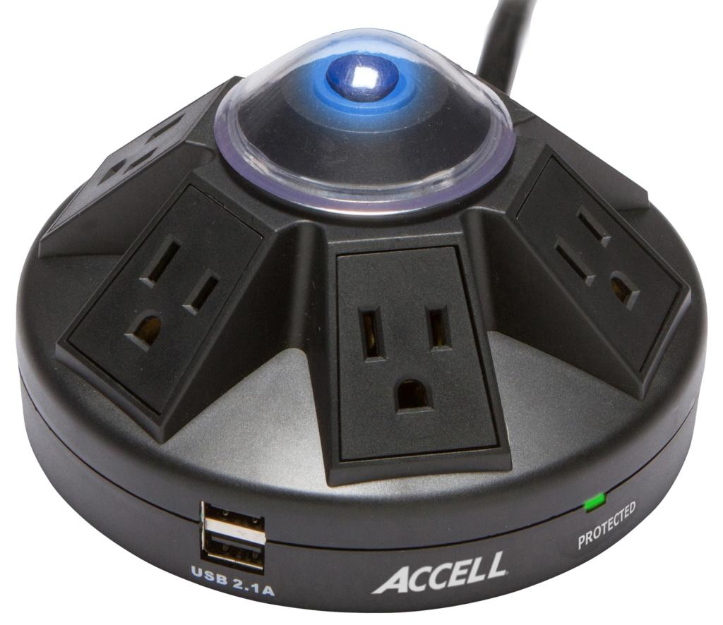 Amazon Com Accell D080b 015k Powramid 6 Outlet Surge