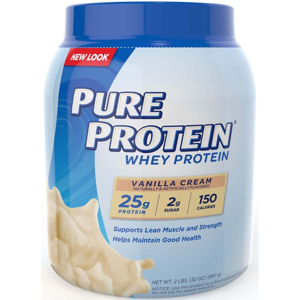 Amazon.com: Pure Protein 100 % Whey Protein, Vanilla Cream ...