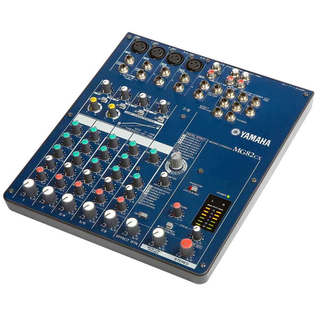 Yamaha Mg82cx 8 Input Stereo Mixer With Digital Effects Amplified Power Tornado Echoreverb Noise Toy Microphone Cd View Larger