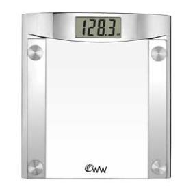 Ww Scales By Conair Digital Glass Bathroom Scale 400 Lb Capacity Elegant Polished
