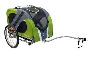 Novel bike trailer in green
