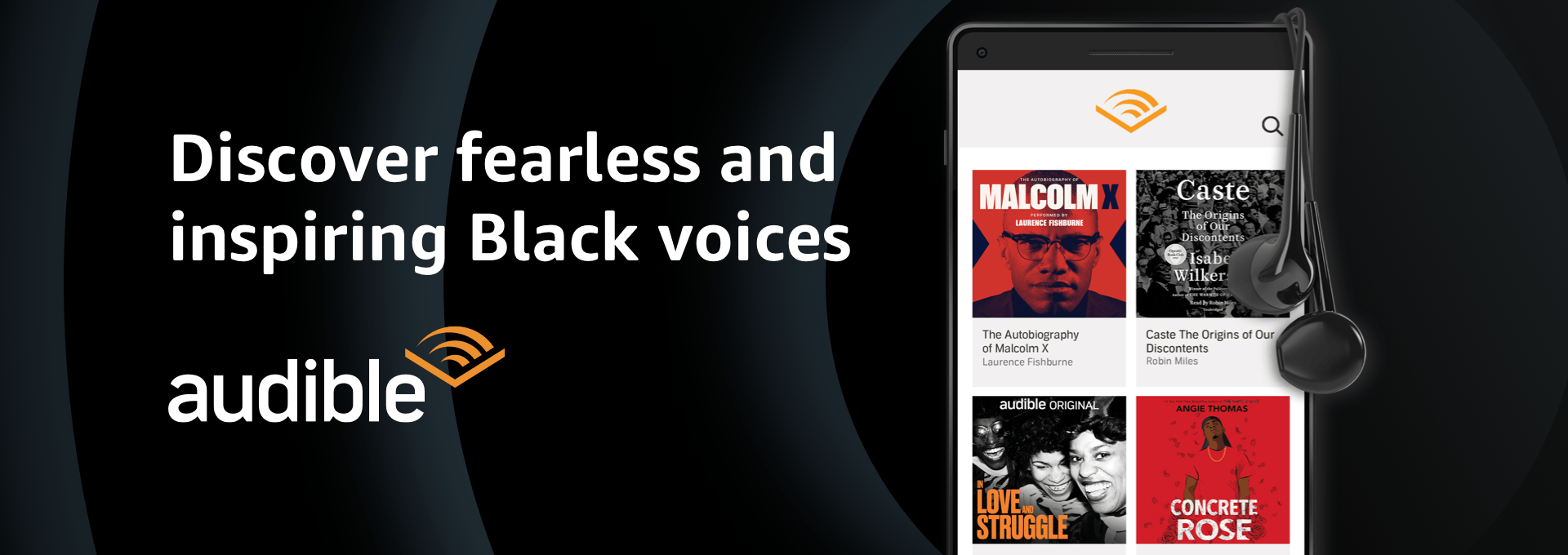 Discover fearless and inspiring Black voices on Audible