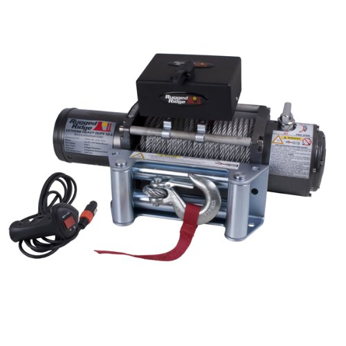 High Quality Rugged Ridge 15100.10 10,500Lb Winch With Steel Cable
