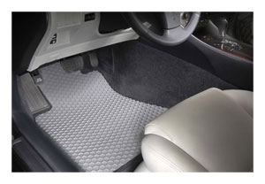 Intro-Tech CV-626-RT-C Hexomat Front Row 2 pc Rubber-Like Compound Custom Fit Auto Floor Mats for Select Chevrolet Corvette Models Clear