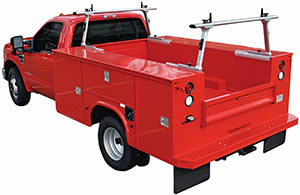 The TracRac UtilityRac G2 installed on a truck