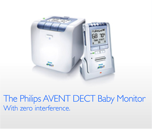 philips avent baby monitor with temperature and humidity sensors white blue. Black Bedroom Furniture Sets. Home Design Ideas