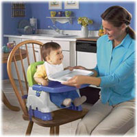 Amazon.com : Fisher-Price Healthy Care Deluxe Booster Seat, Blue/Green/Gray : Chair Booster ...